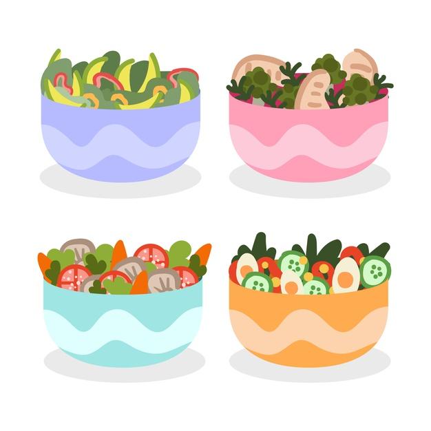 Salatele sănătoase înseamnă cât mai multe substanțe nutritive într-un număr cât mai limitat de calorii.