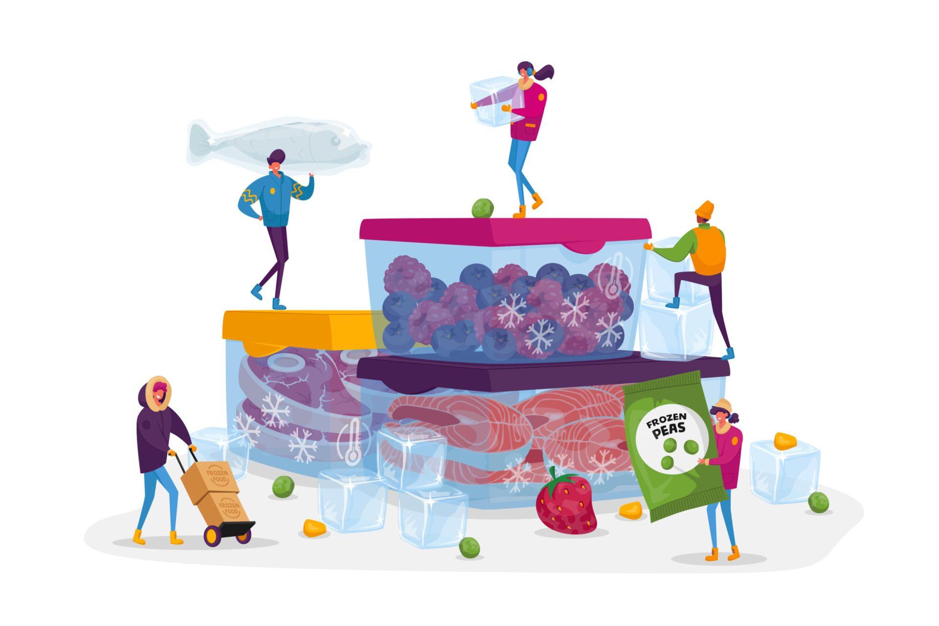 Alimentele congelate sunt sănătoase? Este important ca alimentele să fie închise în pungi de plastic din care să eliminăm cât mai mult aerul prin comprimare.