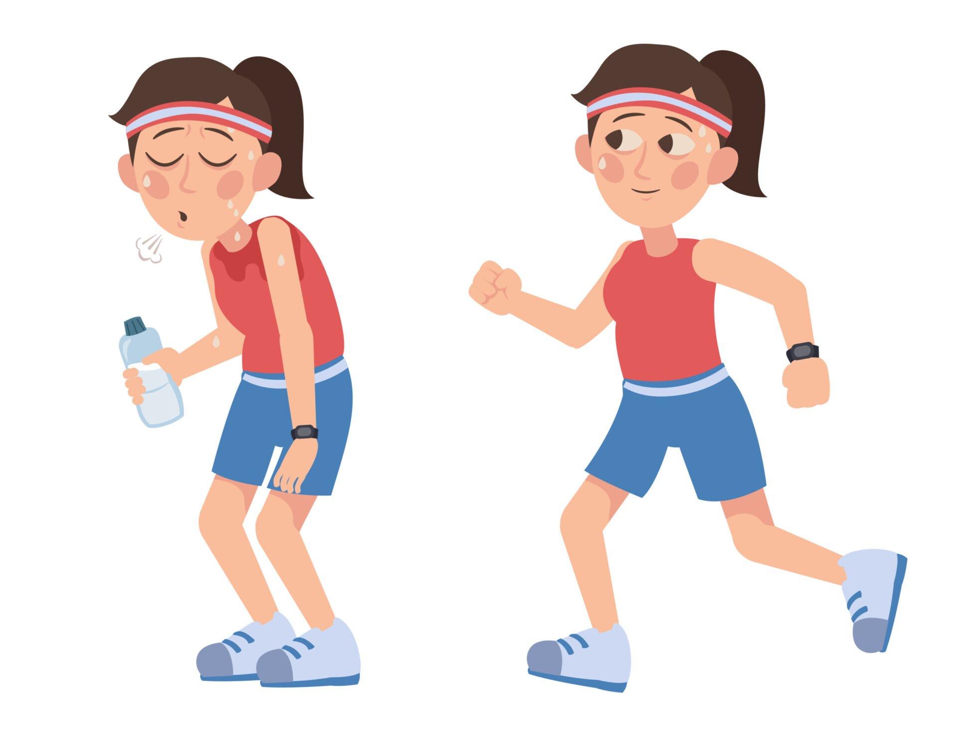 Dacă obosești să alergi, ia o pauză sau mergi în ritm alert