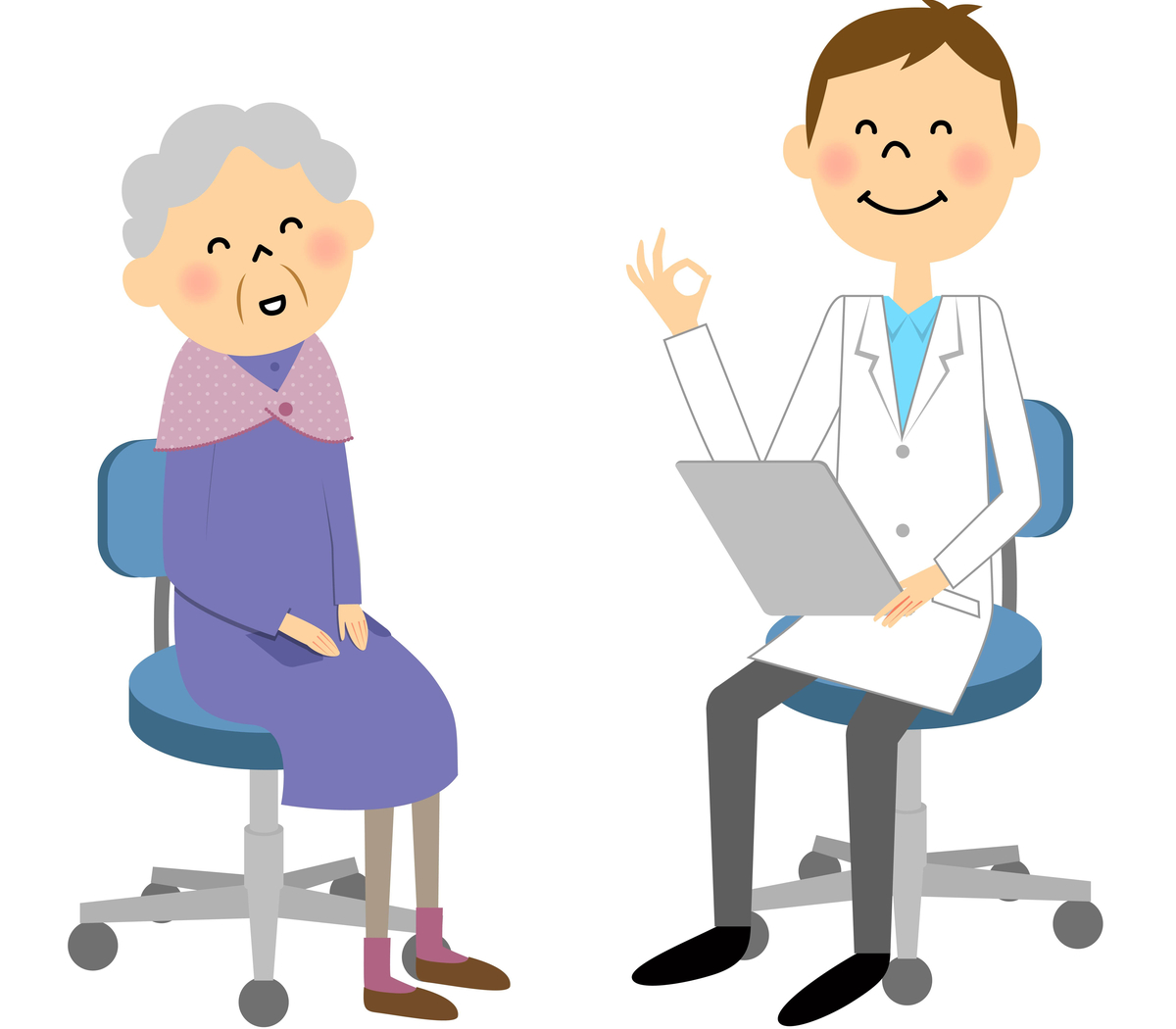 analize medicale dupa 60 de ani. Medicul ii spune unei femei in varsta ca analizele i-au iesit ok
