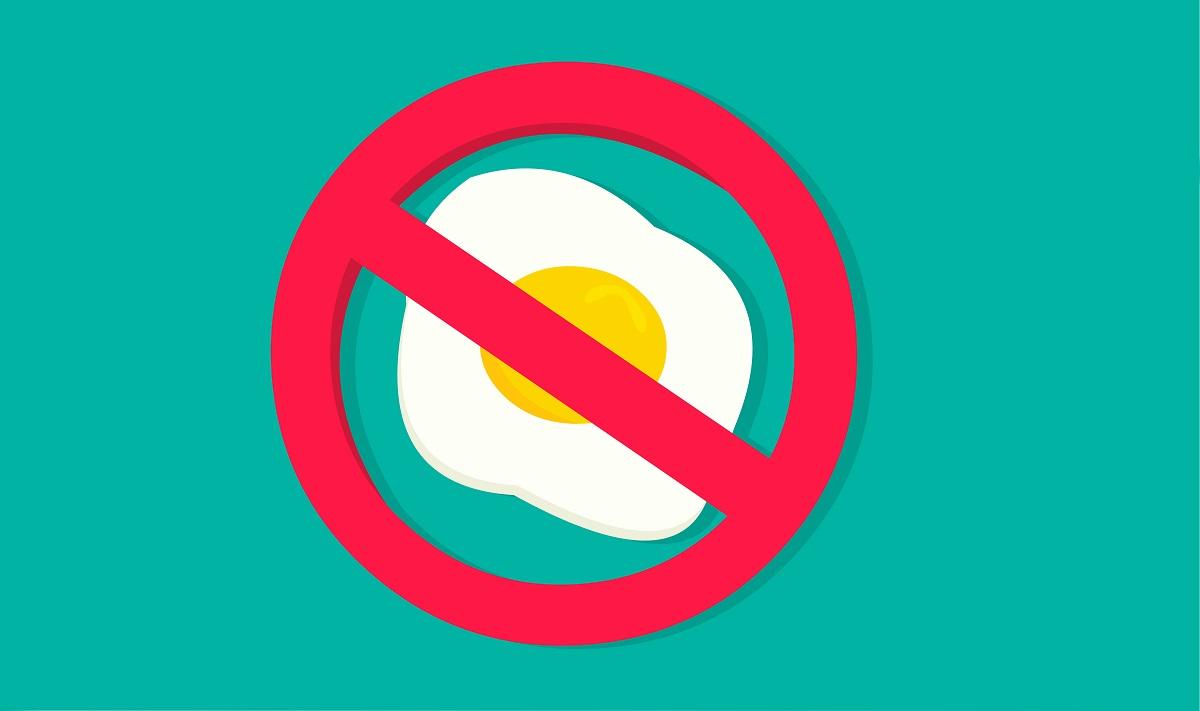 alergie la oua riscuri contraindicatii. semnul interzis peste un ou ochi
