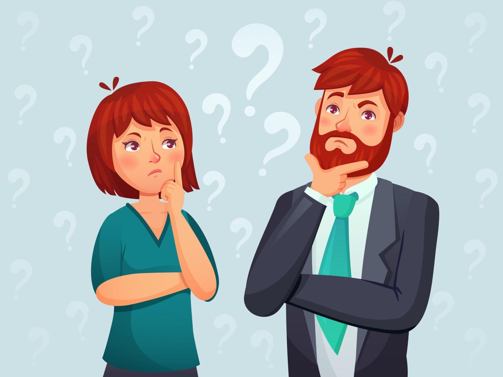 bărbat și femeie care au probleme cu memoria