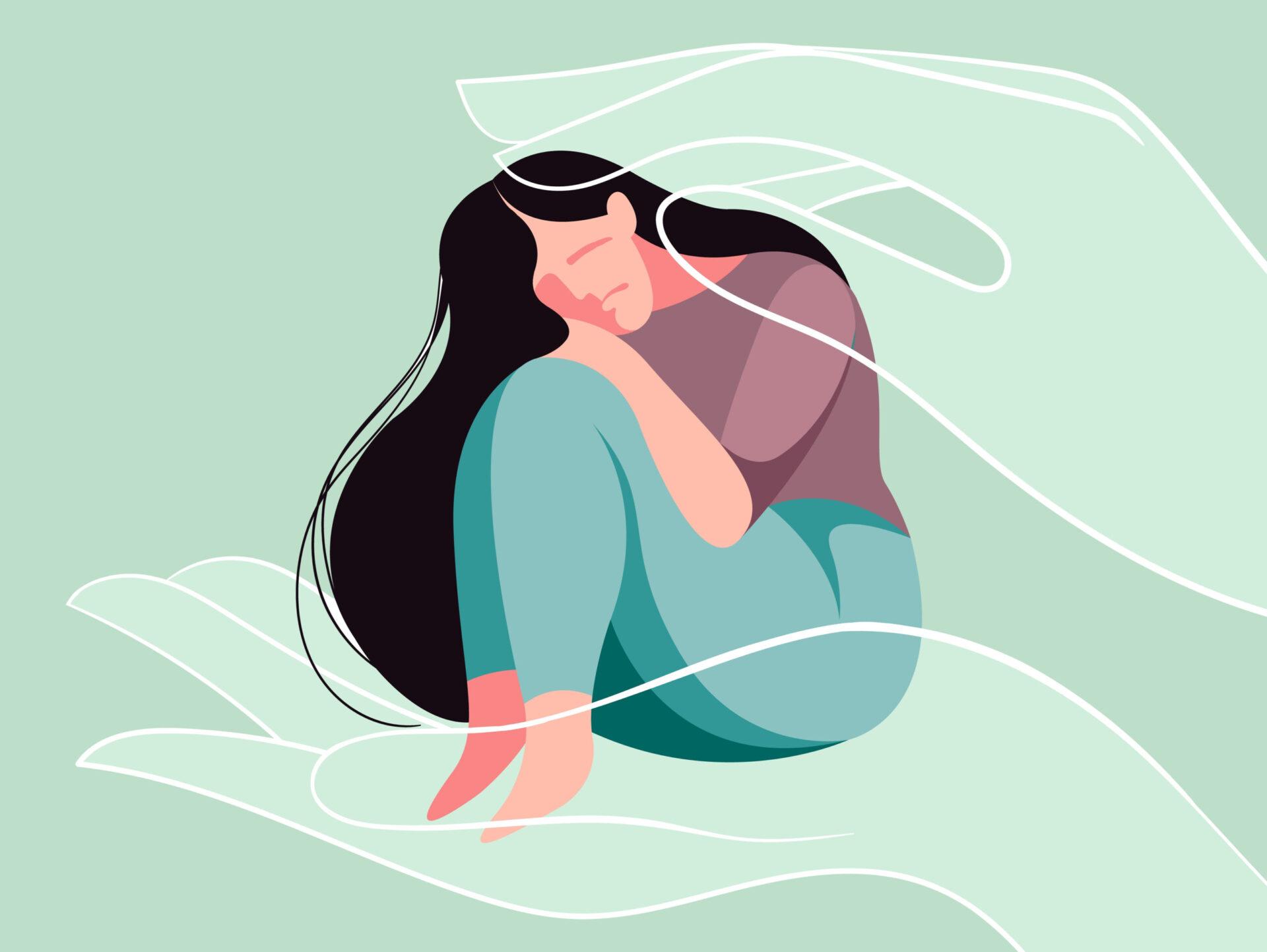 Femeie care suferă din cauza violenței în familie