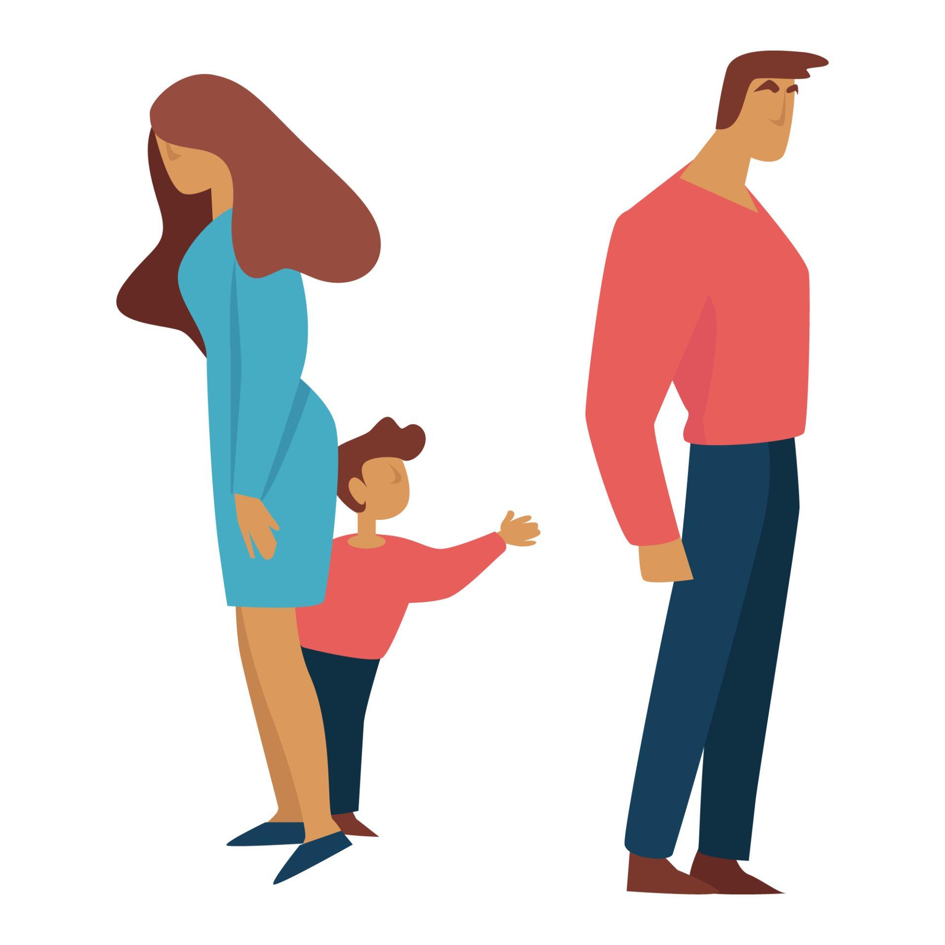 Părinți îmărțind custodia copilului