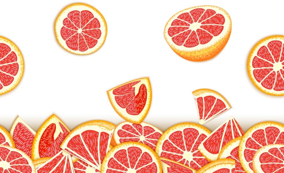 grapefruit beneficii impresionante pentru slabit. jumatati si felii de grapefruit in cadere