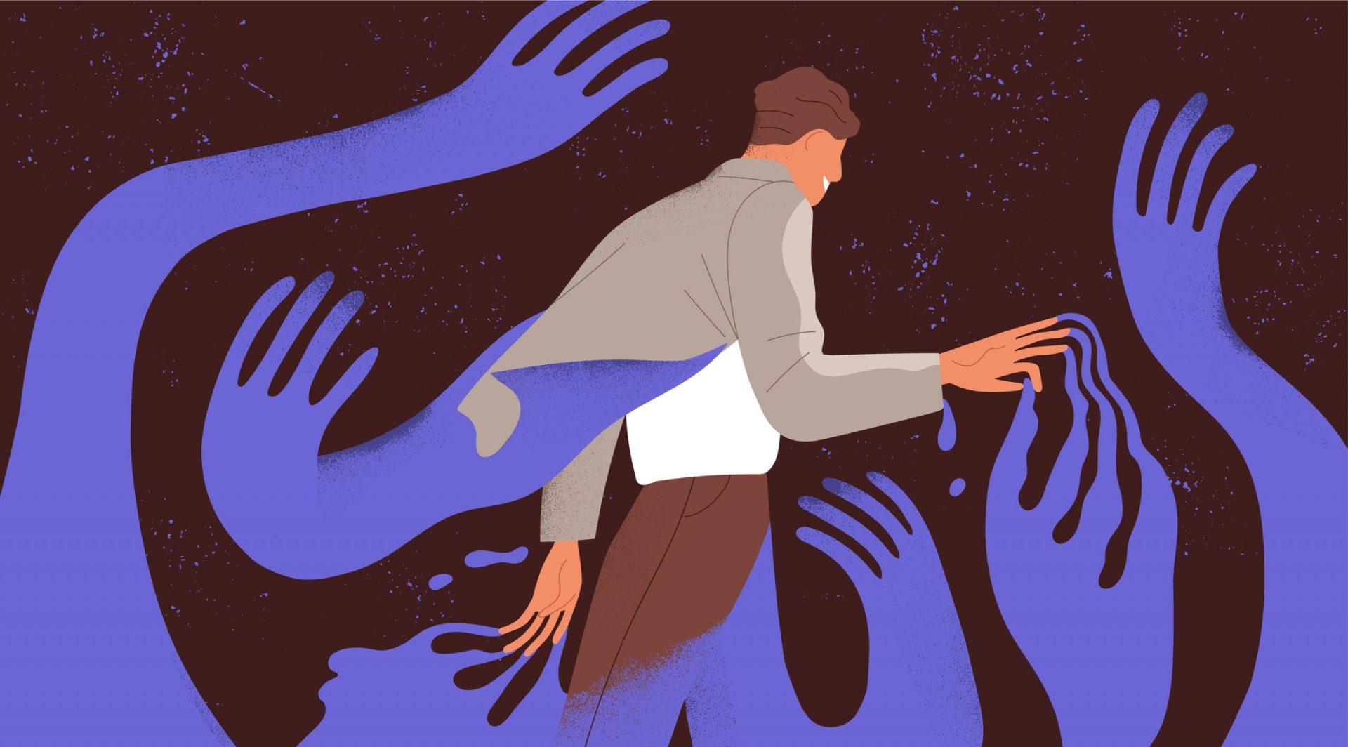 luptele unei persoane cu dependență