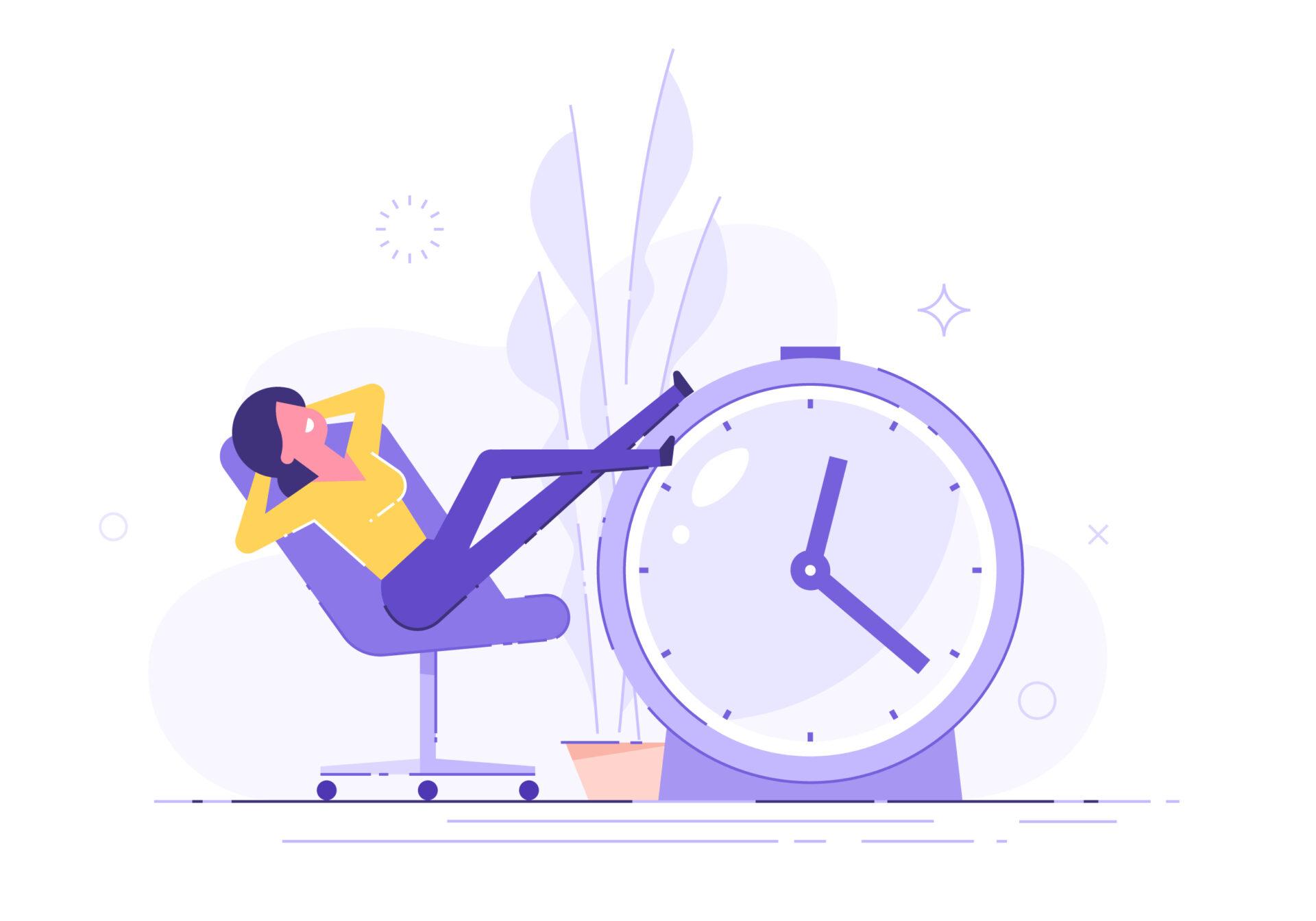 Femeie exemplificând procrastinarea
