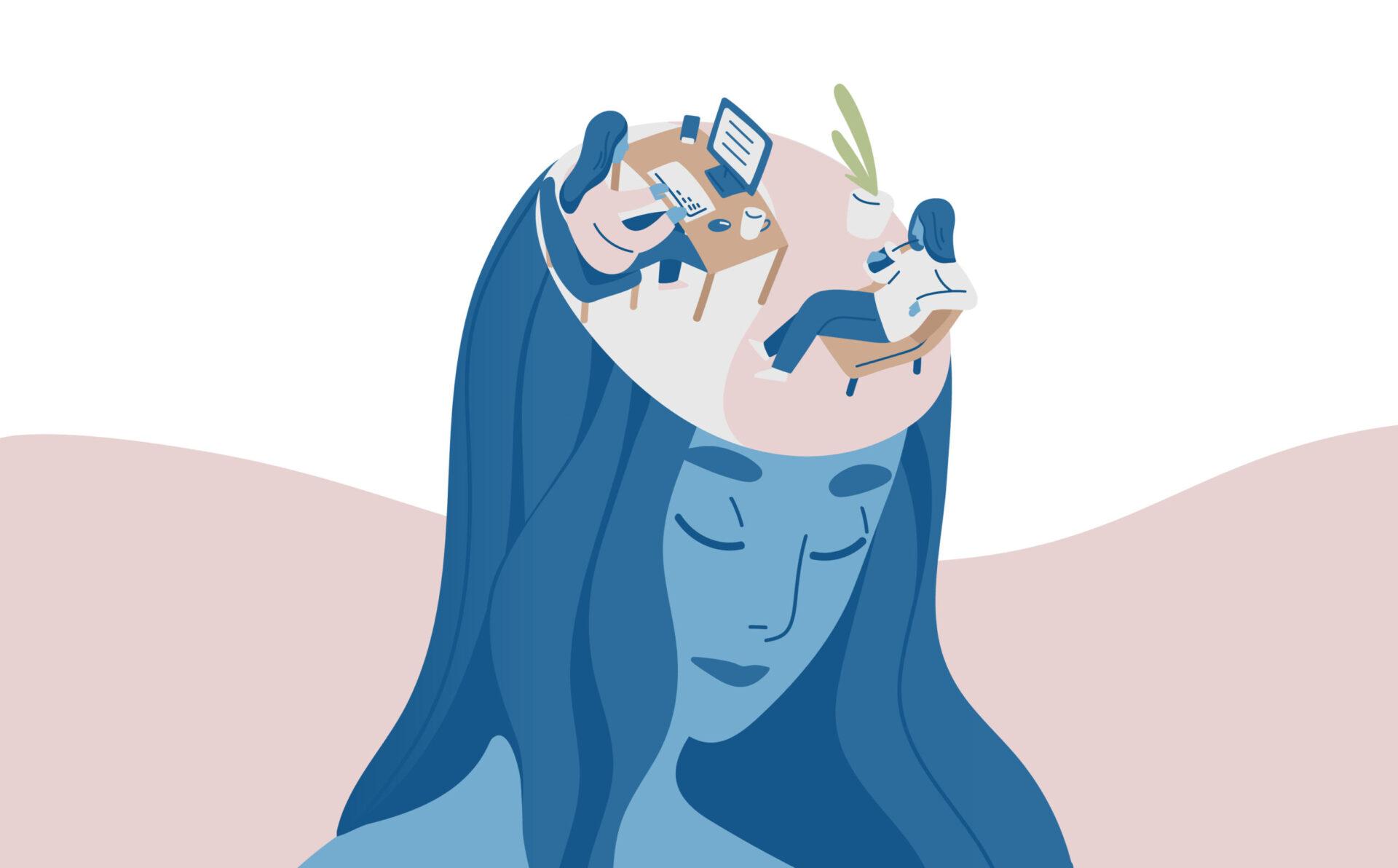 femeie aplicând tehnici de relaxare pentru a se elibera de stres