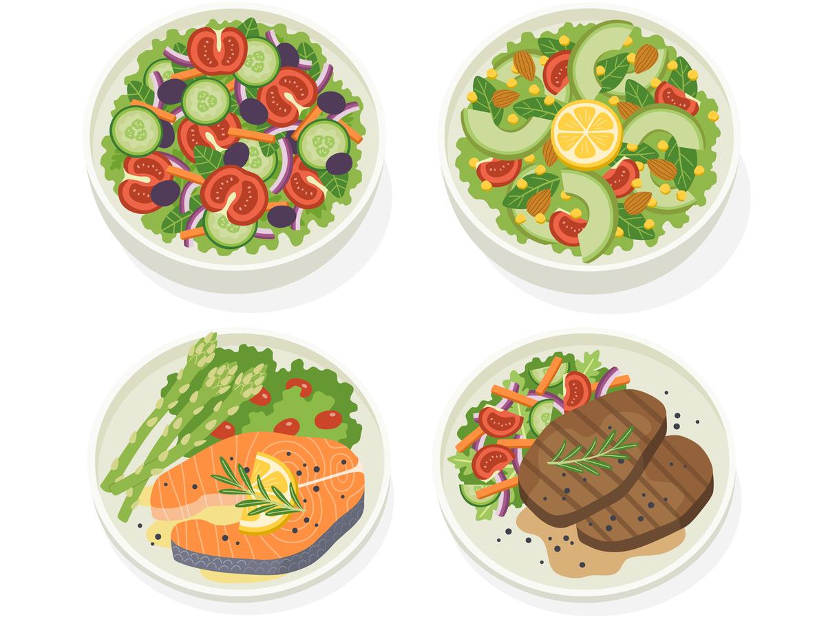 indicele-glicemic-cel-mai-bun-instrument-de-control-al-glicemiei carne și salata